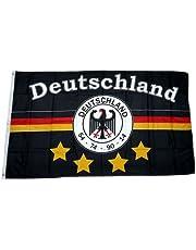 Bandera/bandera de Alemania 4 estrellas admiradora 90 x 150 cm