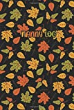 NANNY LOG: Autumn Leaf Pattern in Black Cover- Baby's Daily Log Book: Record Sleep, Feed, Diapers, Activities And Supplies Needed. Perfect For New Parents Or Nannies.