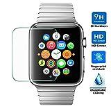 Electrónica Rey Protector de Pantalla para Apple Watch Sport Edition iWatch 42 mm Cristal Vidrio Templado Premium
