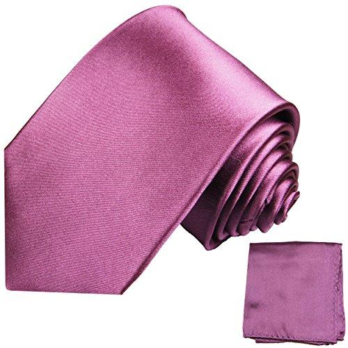 Mauve Altrosanes Krawatten Set 2tlg 100% Seidenkrawatte mit Einstecktuch