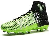 VITIKE Womens Girls Turf Shoes Indoor Football/Soccer Baseball/Softball Cleats Green/Black, 10