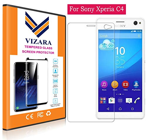 VIZARA™ 0.3 mm 9H Flexible Gorilla Guard Tempered Glass Screen Protector Shield for Sony Xperia C4