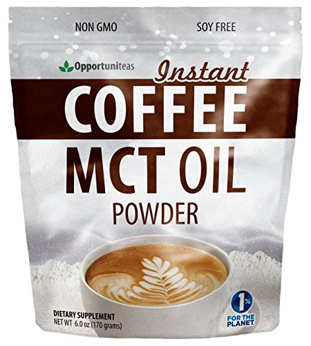 Keto Coffee Creamer For Dark & Rich Flavor - Sugar Free & Unsweetened - MCT Oil Powder + Columbian Coffee - Perfect Breakfast Energy Booster - Ketogenic Diet Friendly - Low Carb Pre Workout Supplement