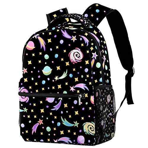 Backpack Galaxia Nebulosa Planeta Mochila Escolar Casual portátil Bolsa para la Escuela Mochila para Escuela Primaria Secundaria Universidad 29.4x20x40cm