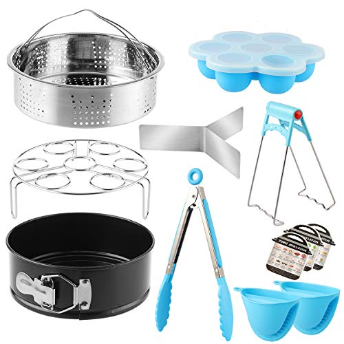 Vaporeras para ollas, Accesorios para ollas de presión, Vaporeras para ollas, con cesta de vapor para tartas, vaporizador, hueveras, moldes magnéticos, etc, acero inoxidable de grado alimenticio