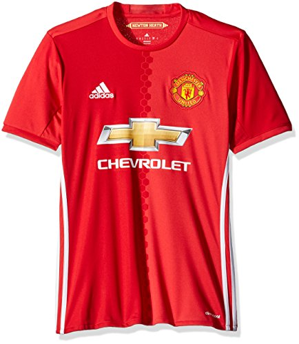 adidas International Soccer Manchester United Men's Jersey, X-Large, Red/White
