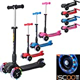 iScoot Blaze© Light Weight 3 Wheel Tilt and Turn Folding Kick Scooter
