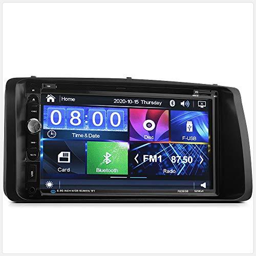 TUNEZ® Kit radio stéréo pour voiture avec lecteur DVD CD USB MP3 MP4 Compatible avec Corolla 2002-2008 E120 E130