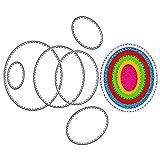 TXIN - Juego de 6 troqueles de corte ovalados de acero al carbono con efecto 3D