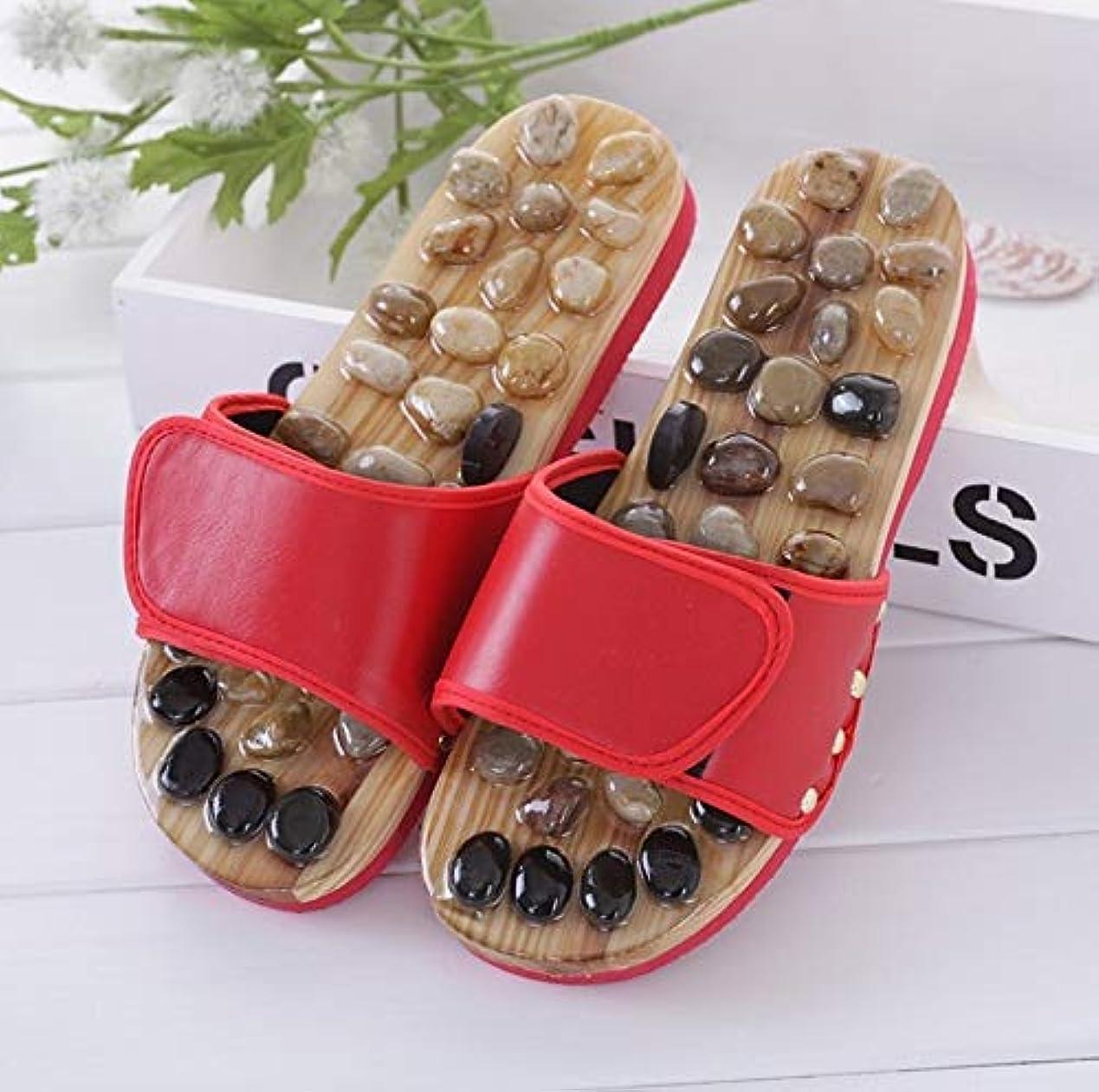 器官機関仮定MASSAGE SLIPPER LUOSAI フィットネスマッサージスリッパ指圧フットマッサージャーアキュポイントマッサージボールスリッパ靴リフレクソロジーサンダル男性と女性 (Size : 38)
