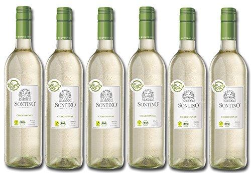 Sontino BioVegan Chardonnay Halbtrocken – Fruchtig-milder Weißwein aus Italien – 6 x 0,75 l