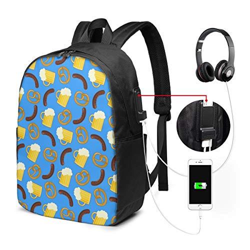 Reise Laptop Rucksack Schöne Bunte Bier Computer Business Rucksäcke mit USB Ladeanschluss Unisex School Bookbag Casual Hiking Daypack