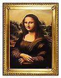 JVmoebel ÖLBILDbilder Gemälde Bilder Bild Handgemalt Öl Rahmen Barock Monalisa G96405