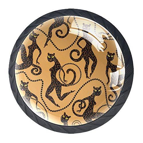 Individuele kunst schilderen Pull handgrepen voor laden verschillende ontwerp glas afdrukken lade handvat Pull handgrepen voor dressoir lades 3.5×2.8CM/1.38×1.10IN patroon07
