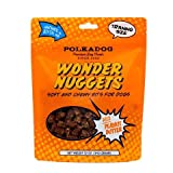 PolkadogPeanut Butter Wonder Nuggets Dog Treats – Vegan, All-Natural Pet Training Treat for Dogs – Healthy, Handmade Puppy Snacks – Bite-Sized, Soft, Chewy Treats for Pets – 12 oz.