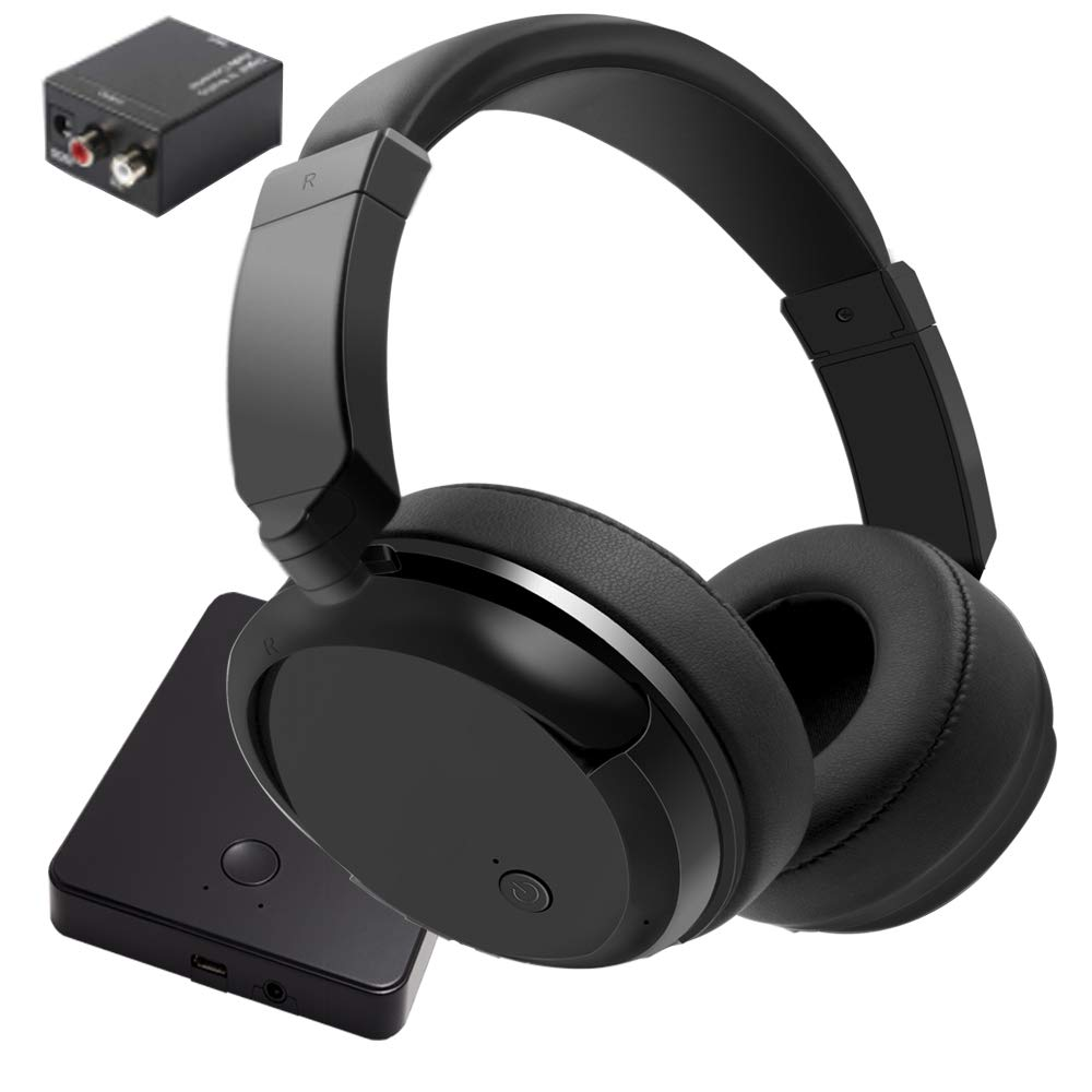 Wireless Headphones Watching Rechargeable Transmitter