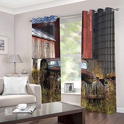 HHJJ Super Soft Window isothermiques Rétro et Voiture Bloqué Rideau for Décoration Rideaux for Cuisine Thermique Goutte Salon Chambre (Size : W336cmx L229 cm)