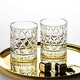 KNAGHT Vaso de Cerveza de Whisky Vaso de Cristal Vaso de Vino Blanco Vaso de Jugo Vaso de Vino de Fiesta Oficina Vaso de Cerveza en casa 4 Paquetes Transparente