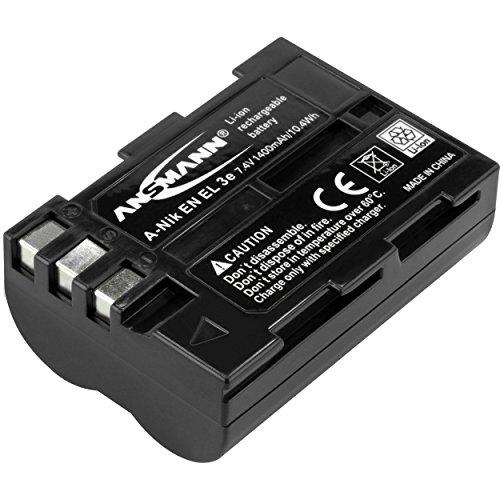 ANSMANN Li-Ion batterij A-Nik EN EL 3e 7 4V / type 1400mAh / krachtige batterij voor foto digitale cameras - de perfecte reserveaccu voor Nikon Digicam en nog veel meer.