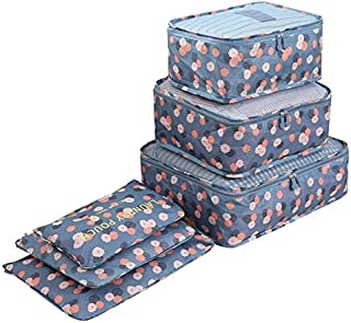 6 Pcs/set Travel Suitcase Closet Divider Container Storage Bag Set for Clothes Tidy Organizer Packing Cubes Laundry Bag Lu...