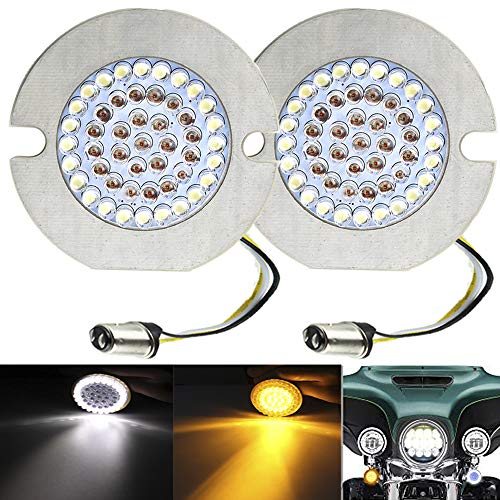 ZYTC 3 1/4' LED Turn Signals Flat Style Front 1157 LED Turn Signal Kit For Harley Davidson