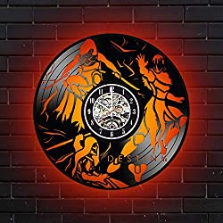 Levescale Destiny Videogame Lighted Vinyl Wall Clock for Men and Women, Gamers - Decoration for Living Room, Bedroom, Bar, Work Space - Bungie Sequel (red)