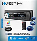 Soundstream DX-30BT Car CD MP3 Player USB AUX SD Card Inputs Single...