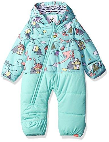 Roxy Girls Baby Rose Snow Jumpsuit, Aruba Blue_Little Miss Alpine, 6-12M
