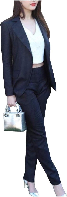 SpaceAngel Women Slim Fit Business 3 Pieces Suits Blazer Tux Vest & Trousers