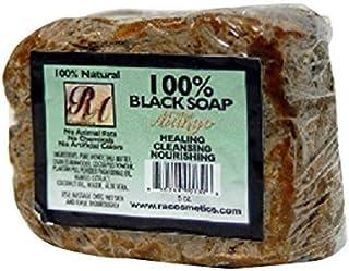 Sponsored Ad - RA Cosmetics 100% Natural African Black Soap, Mango Scent, 5 oz, 141g