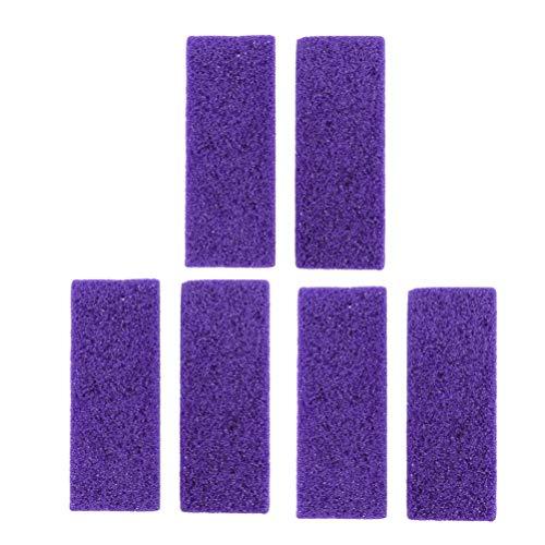 Milisten Lot de 6 outils de pédicure en pierre ponce double face pour enlever la peau dure des mains et des pieds (violet)