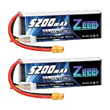 Zeee 3S 11.1V 5200mAh 50C RC LiPo Battery Pack with XT60 Plug for RC Quadcopter RC Hobby RC Helicopter Airplane UAV Drone FPV (2 Pack)
