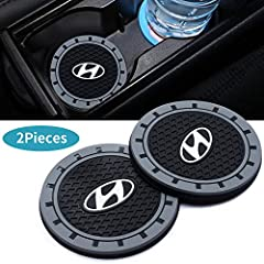 ✔Anti Slip Cup Mat Suit For HYUNDAI All models,And Presenting an American Flag Key Link ✔Water-proof and dust-proof, Keep your cup groove clean and tidy. Made of Silicone, easy to clean. ✔Size:Diameter 3 inch, thick 0.23inch.(Please make sure it fits...