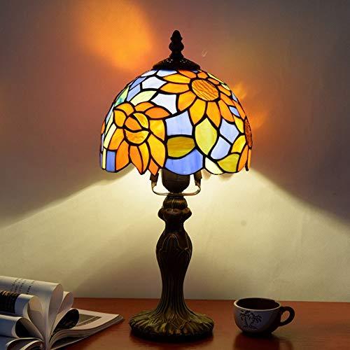 LG Snow lámparas Jardín De Flores De Sol Europeo Mediterráneo Dormitorio Mesita De Noche Pequeña Lámpara De Mesa Bar Personalidad del Hotel 8 Pulgadas Lámpara Mediterránea