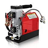 GX CS2 Portable PCP Air Compressor,4500Psi/30Mpa,Oil-Free,Powered by Car 12V DC or Home 110V AC with...