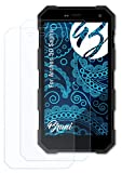 Bruni Schutzfolie kompatibel mit Archos 50 Saphir Folie, glasklare Bildschirmschutzfolie (2X)