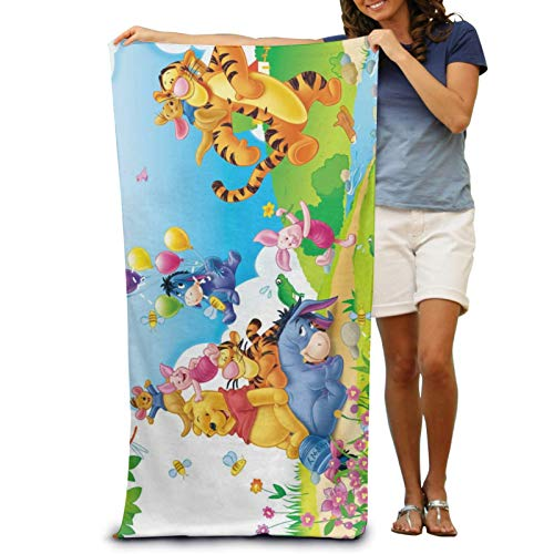XCNGG Winnie Pooh Bath Towels Large Soft Bathroom Absorbent Towel Women Men Apply to Beach Sports Travel Washcloths