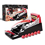 THE BLACK SERIES Skeeball Mini Arcade Game Tabletop Shootout with Ball Return Game Set for Kids Adults Outdoor and Indoor Play