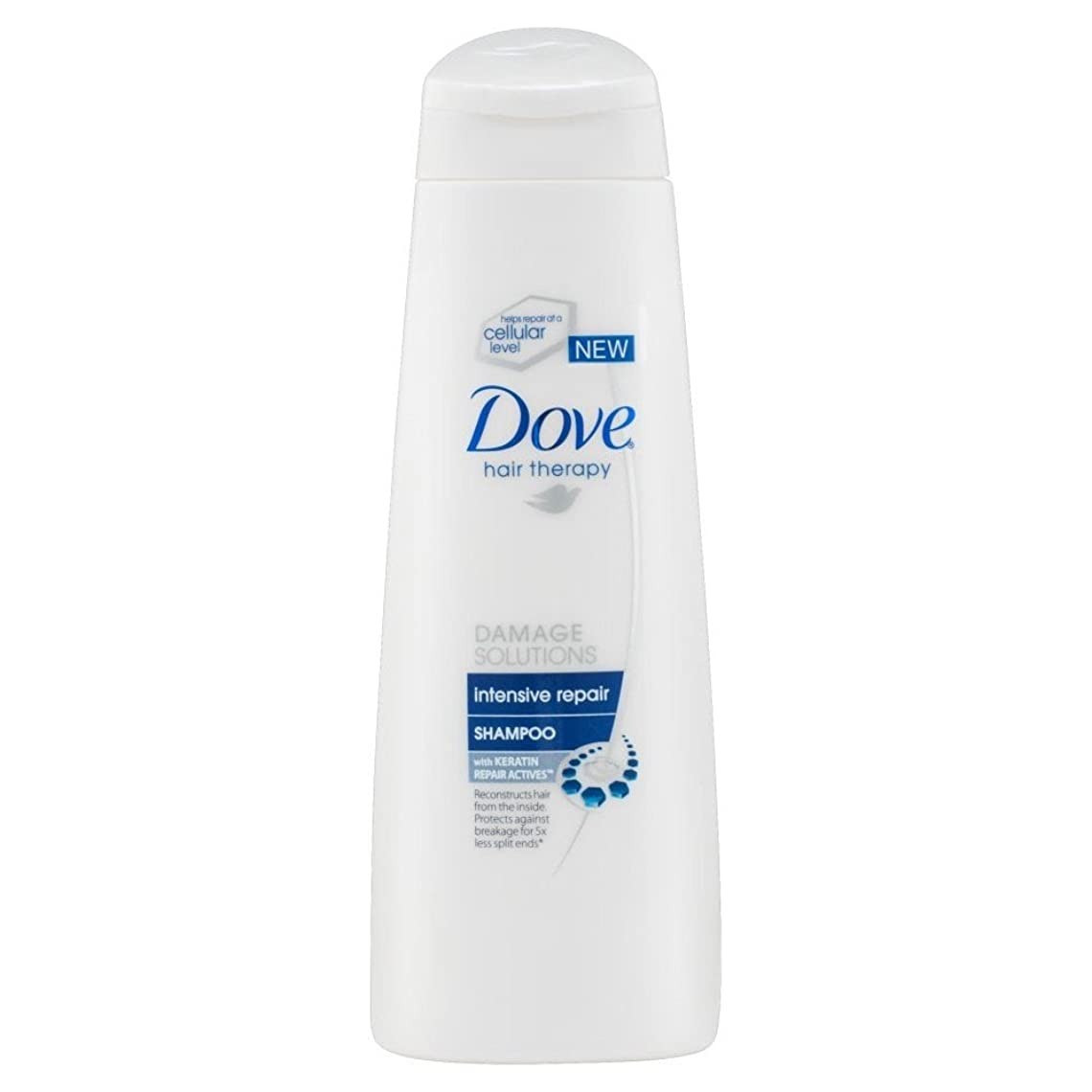 実現可能びっくりしたDove Hair Therapy Damage Solutions Intensive Repair Shampoo - Damaged Hair (250ml) 鳩髪療法ダメージソリューションの集中補修シャンプー - 傷んだ髪( 250ミリリットル) [並行輸入品]