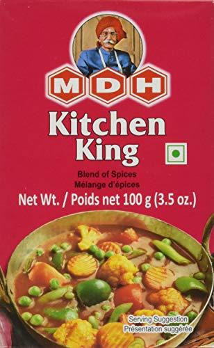 MDH Kitchen King Mischung für Gemüsegerichte King Masala, Bunt, 100gr (60er Pack)
