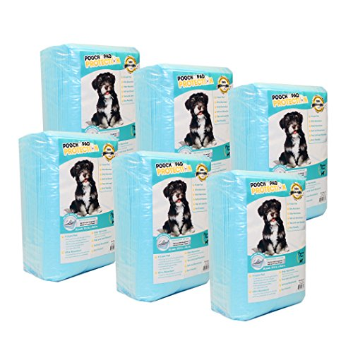 Pooch Pad Protection PREMUM Dog Training Pads 150 Count, Better Absorbing Wee Wee Pads. Soft D-LUX Puppy Pads for Dog & CAT for Ultimate Training