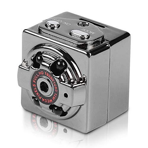 Bewinner SQ8 Mini Dash CAM 1080P, Cámara Full-HD para Auto DVR Cámara portátil DV DC Cámara Deportiva con 360 ángulos de visión Amplia Soporte para grabadora de Video T-Flash 32G