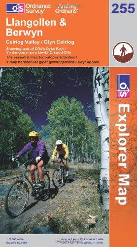 OS Explorer map 255 : Llangollen & Berwyn
