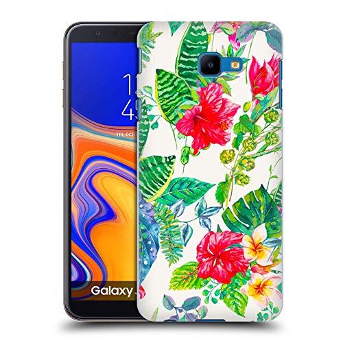 Head Hülle Designs Offizielle Haroulita Dunkel Rot Multi Blumen Harte Rueckseiten Handyhülle Hülle Huelle kompatibel mit Samsung Galaxy J4 Core