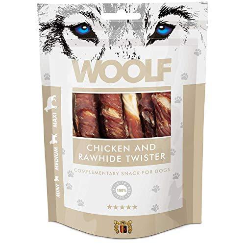 WOOLF rollo de gallina–Snack para perros 100% Natural