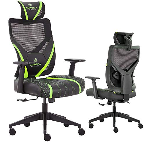 Video Game Chair GE300, Black & Green