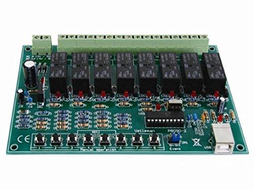 VS-ELECTRONIC - 840516 Modul USB-Relaiskarte, 8-Kanal VM8090