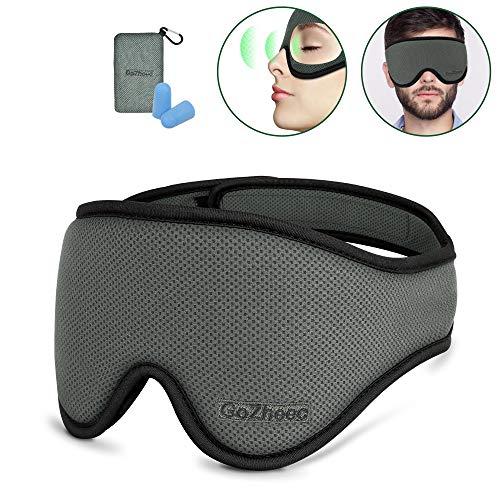 Slaapmasker dames heren oogmasker katoen lichtbescherming slaapbril 3D gevormde oogbescherming