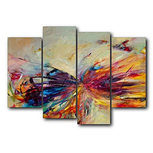 NOBRAND Acuarela Alas Lienzo Pinturas al óleo Estampados Decoración del hogar Arte de la Pared Poster Imagen para la Sala de Estar Dormitorio-40x80_40x100cmx2_No_Frame