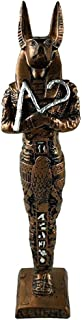 الملك الفرعوني انوبيس - صناعة يدوية مصرية من البورسيلين - نحاسي